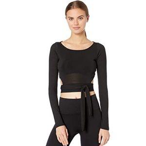 {alo yoga} barre long sleeve in black